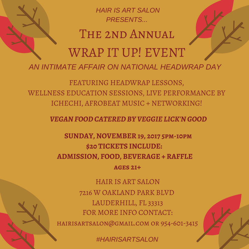 Second Annual Wrap It Up! Event Flyer
