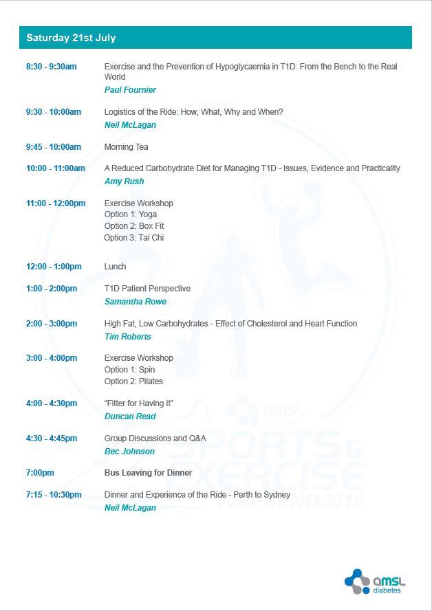 Agenda - Saturday
