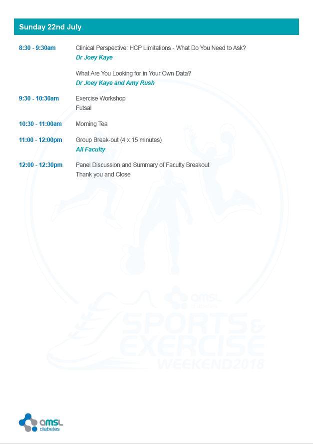 Agenda - Sunday