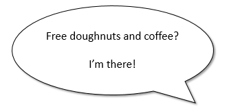 Free Doughnuts and coffee