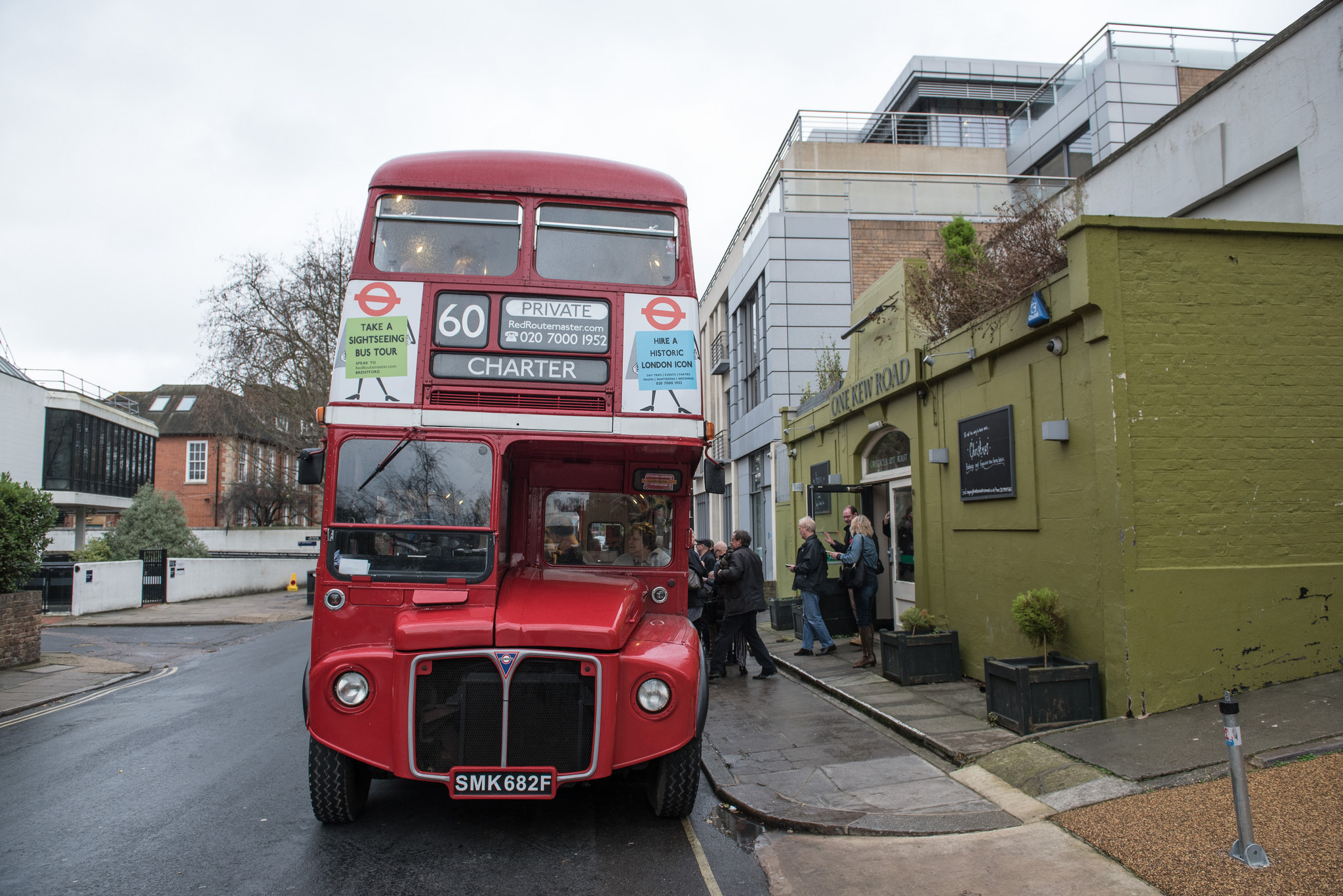 The 60s bus outside the old Station Hotel, Richmond