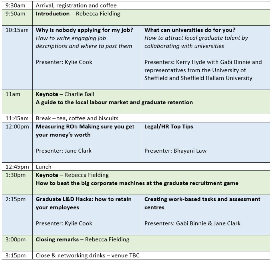 SGRC Schedule