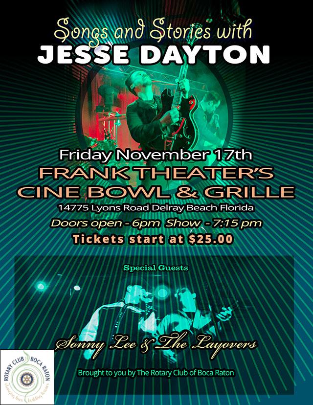 Jesse Dayton Playing in Delray Beach, FL