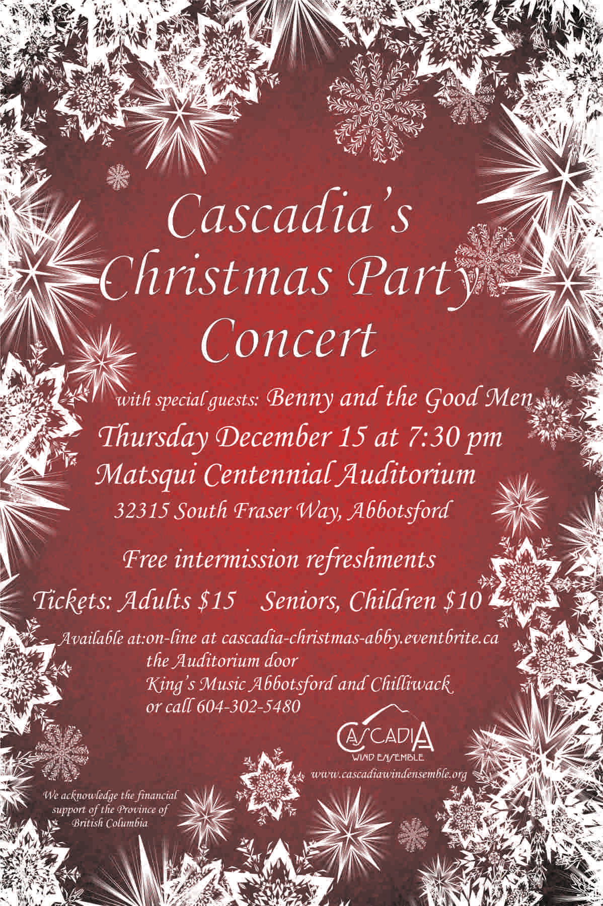 Cascadia's Abbotsford Christmas Concert