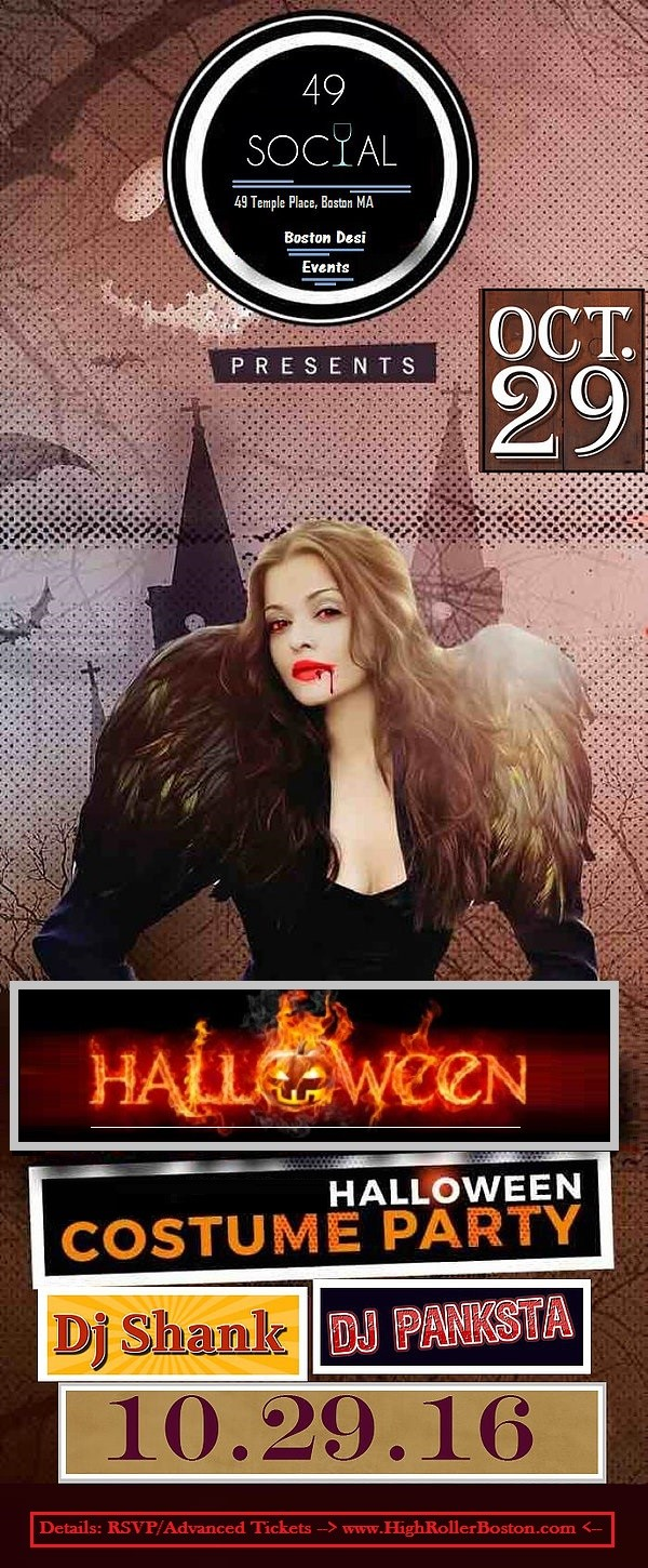 Halloween Costume Party @ 49 Social !! Tickets, Sat, Oct 29, 2016 ...