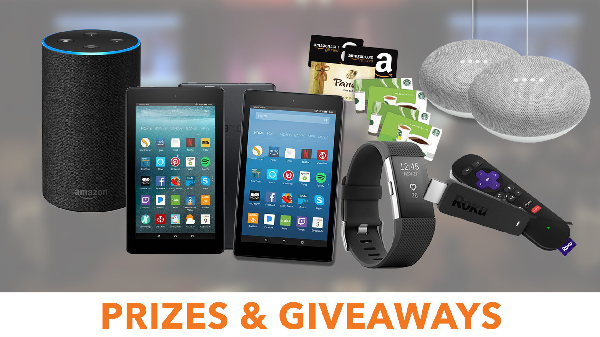 $1000 in prizes and giveaways