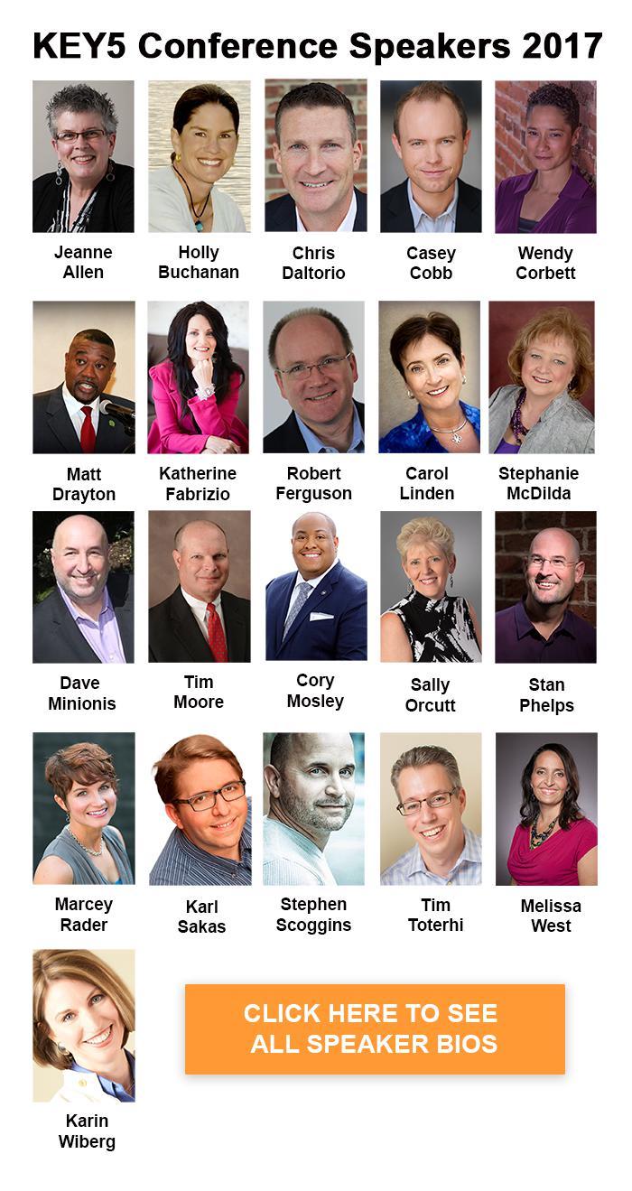 2017 KEY5 speaker list