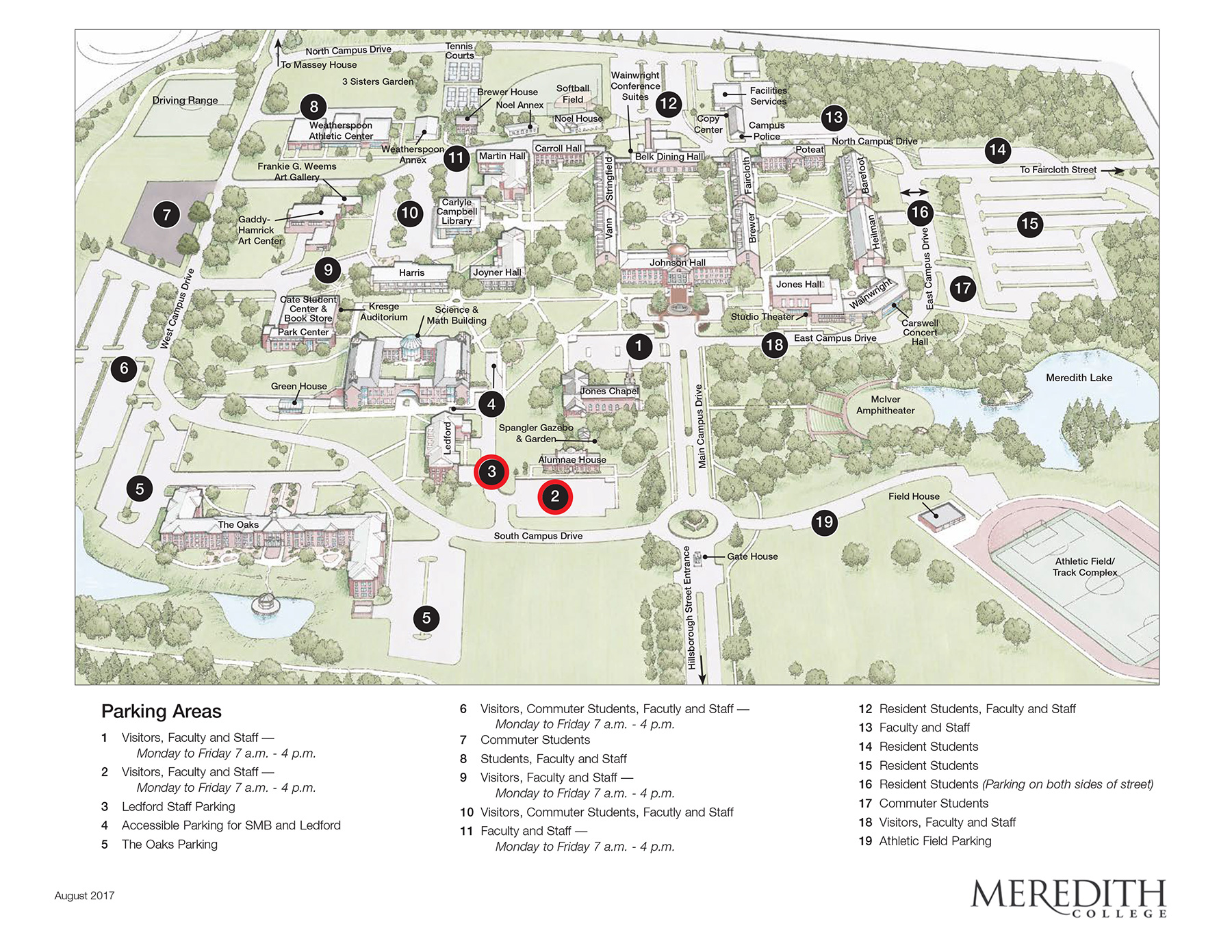 Map of Meredith College