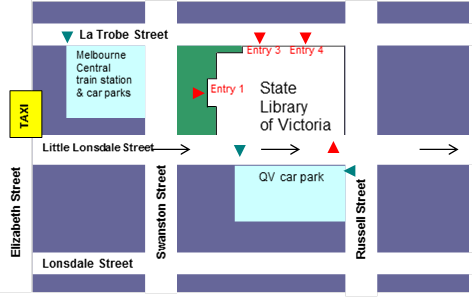 State Library Victoria map