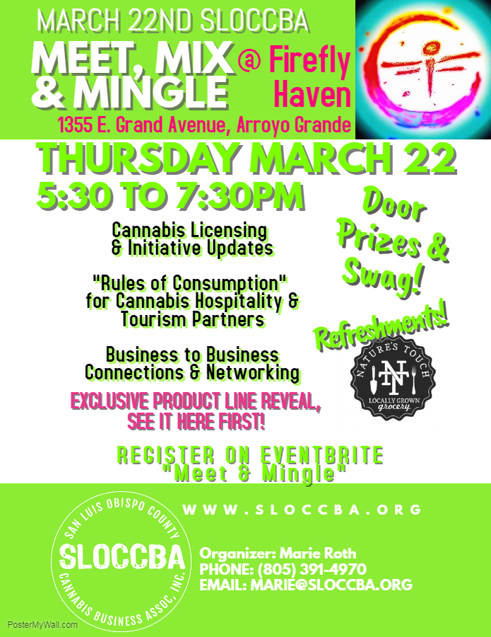 March 22 Mix and Mingle SLOCCBA