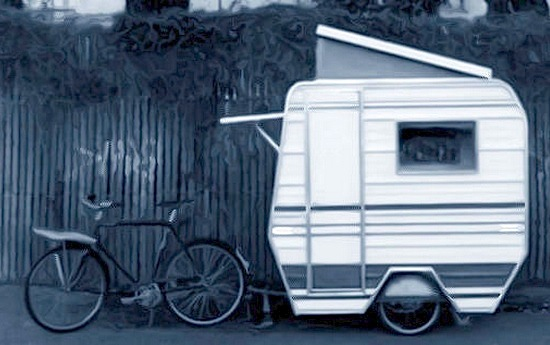 Pic of bike and caravan