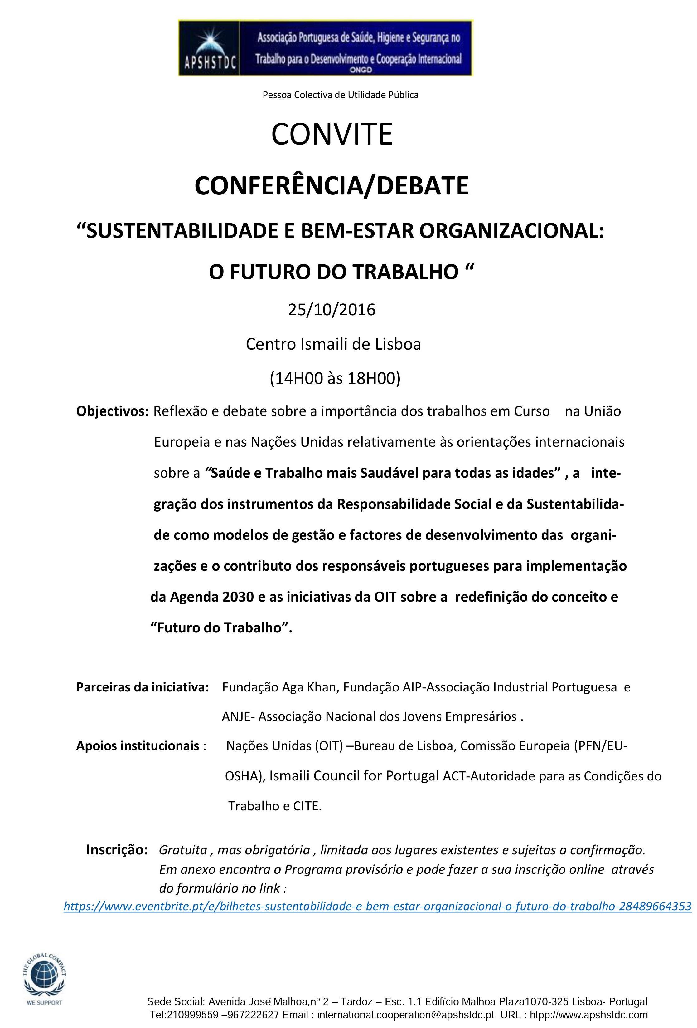 OBJECTIVOS - CONFERÊNCIA /DEBATE