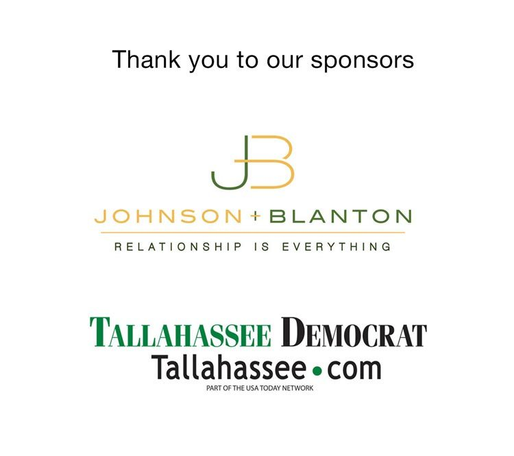 Thank You sponsors Johnson + Blanton and The Tallahassee Democrat
