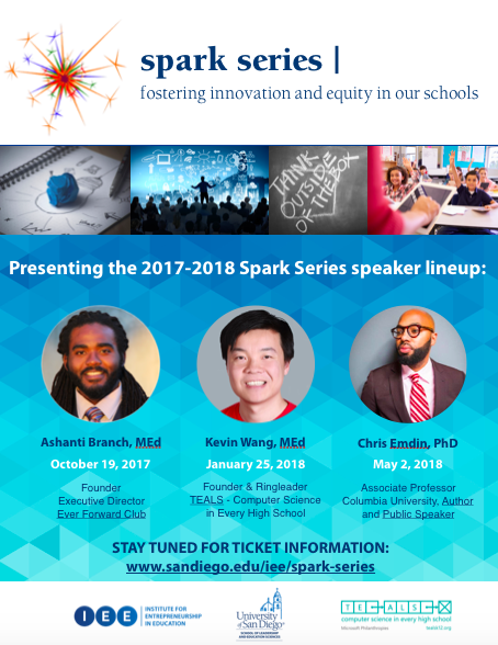 graphic of the spark series announcement, information that can be found in the above event description