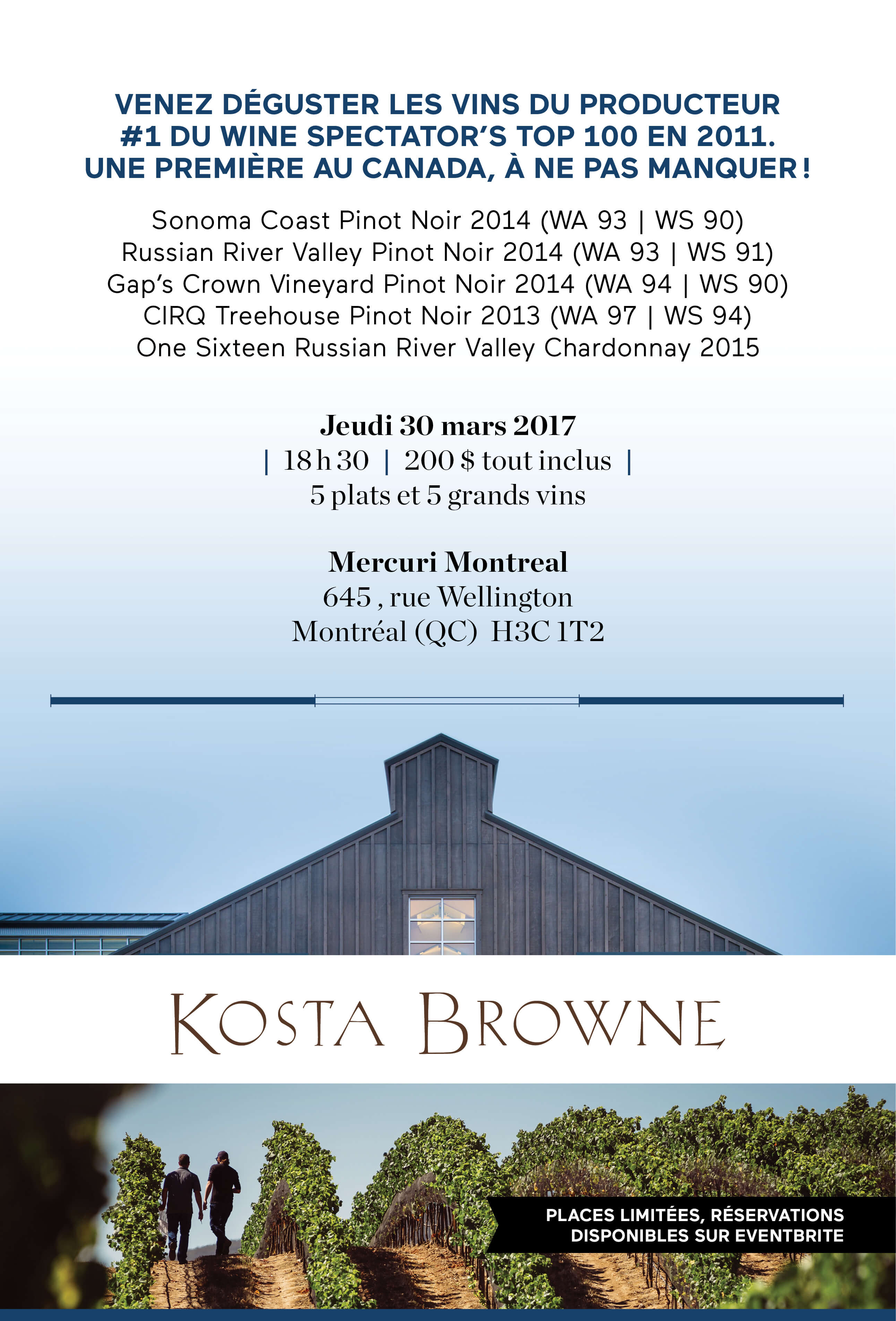 Invitation Kosta Browne