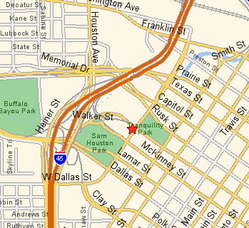 Houston City Hall Parking Map