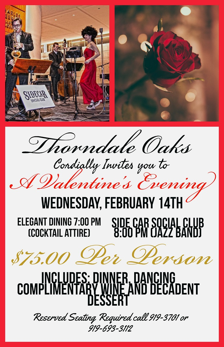 A Valentine\'s Evening at Thorndale Oaks Tickets, Wed, Feb 14, 2018 ...