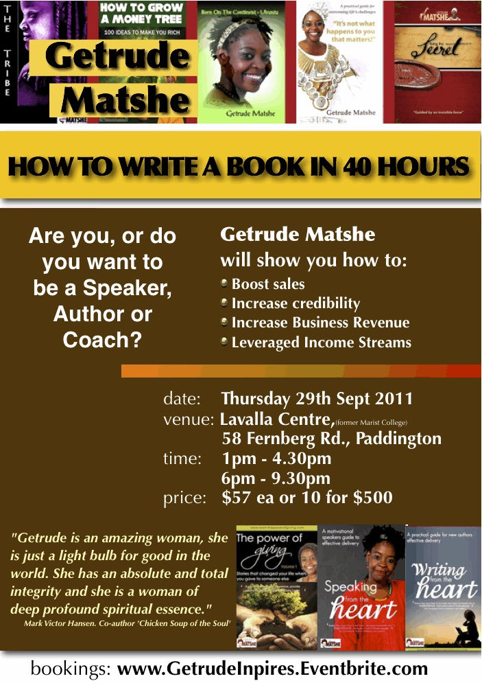 Bookwriting workshop