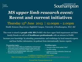 MS Upper Limb Research Event