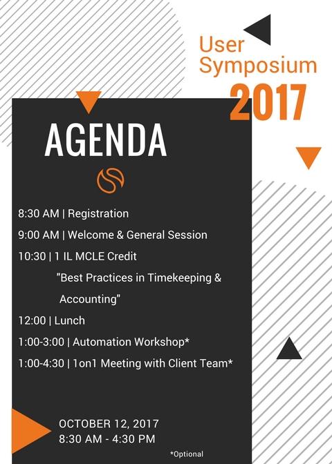 Fall 2017 User Symposium Agenda