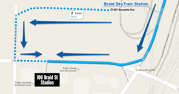 100 Braid St Map