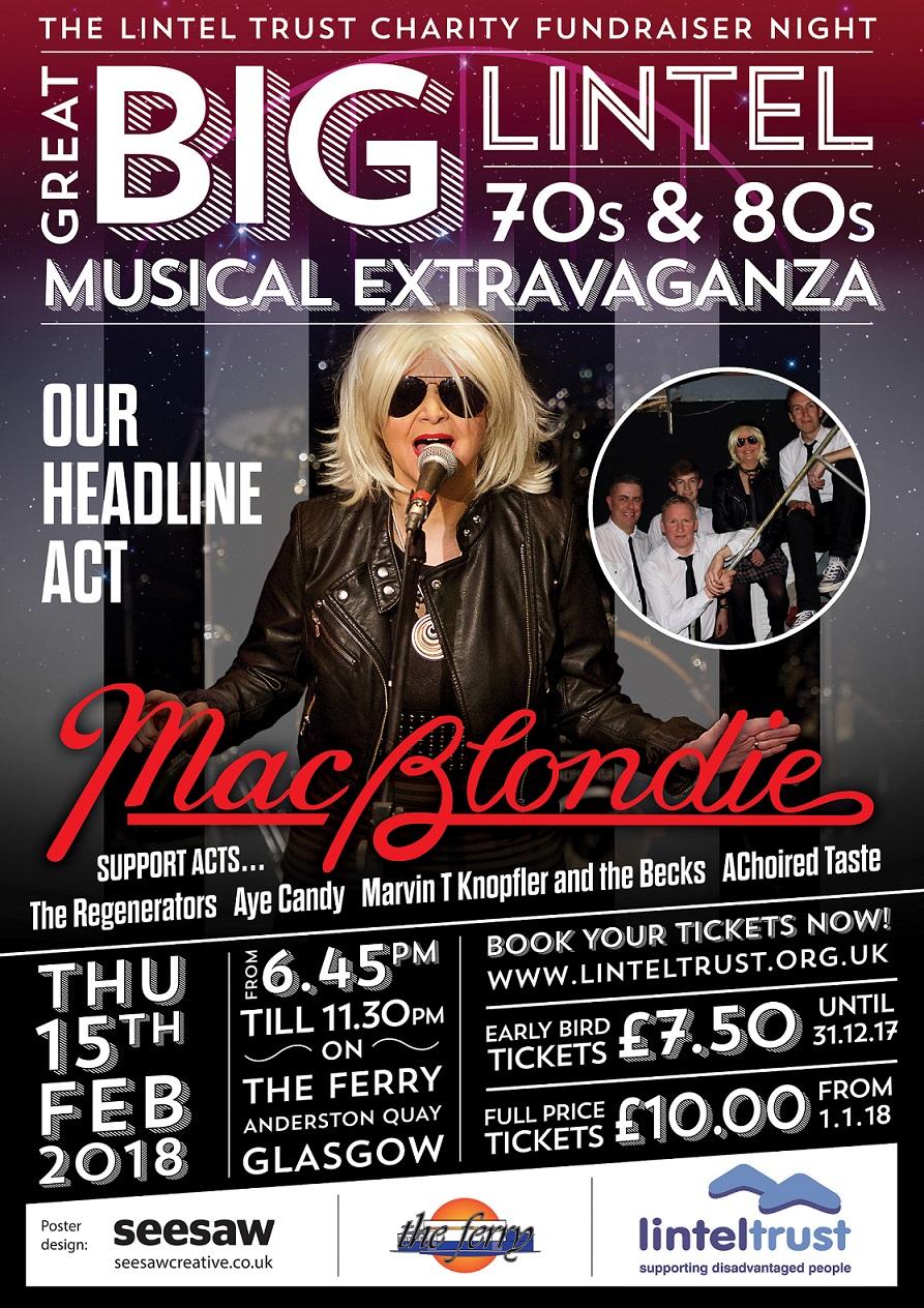 Poster featuring McBlondie singing