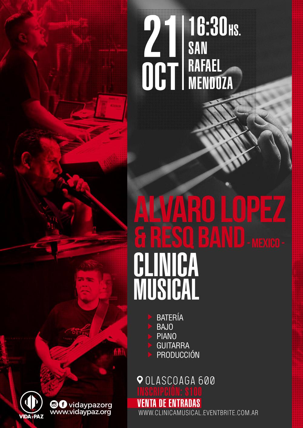 Clinica Musical con Alvaro Lopez y Resq Band