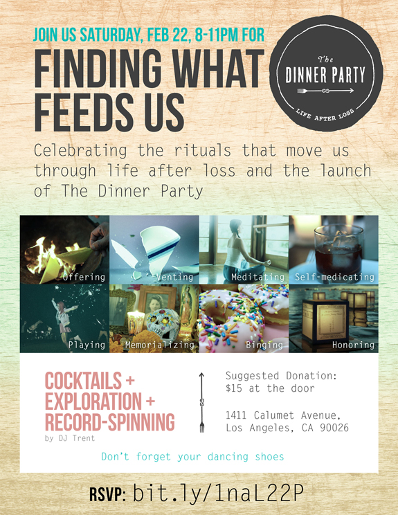 The Dinner Party Los Angeles Launch Invite