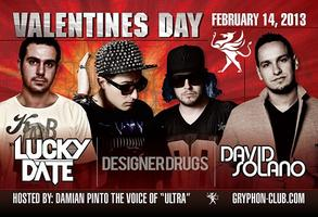 Lucky Date/David Solano/Designer Drugs @ Gryphon Hard Rock...