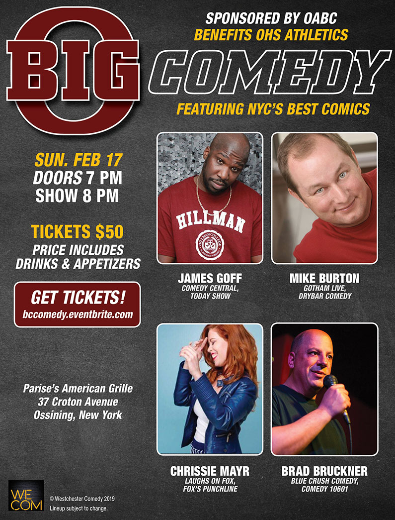 Big O Comedy with Chrissie Mayr, James Goff, Mike Burton and Brad Bruckner