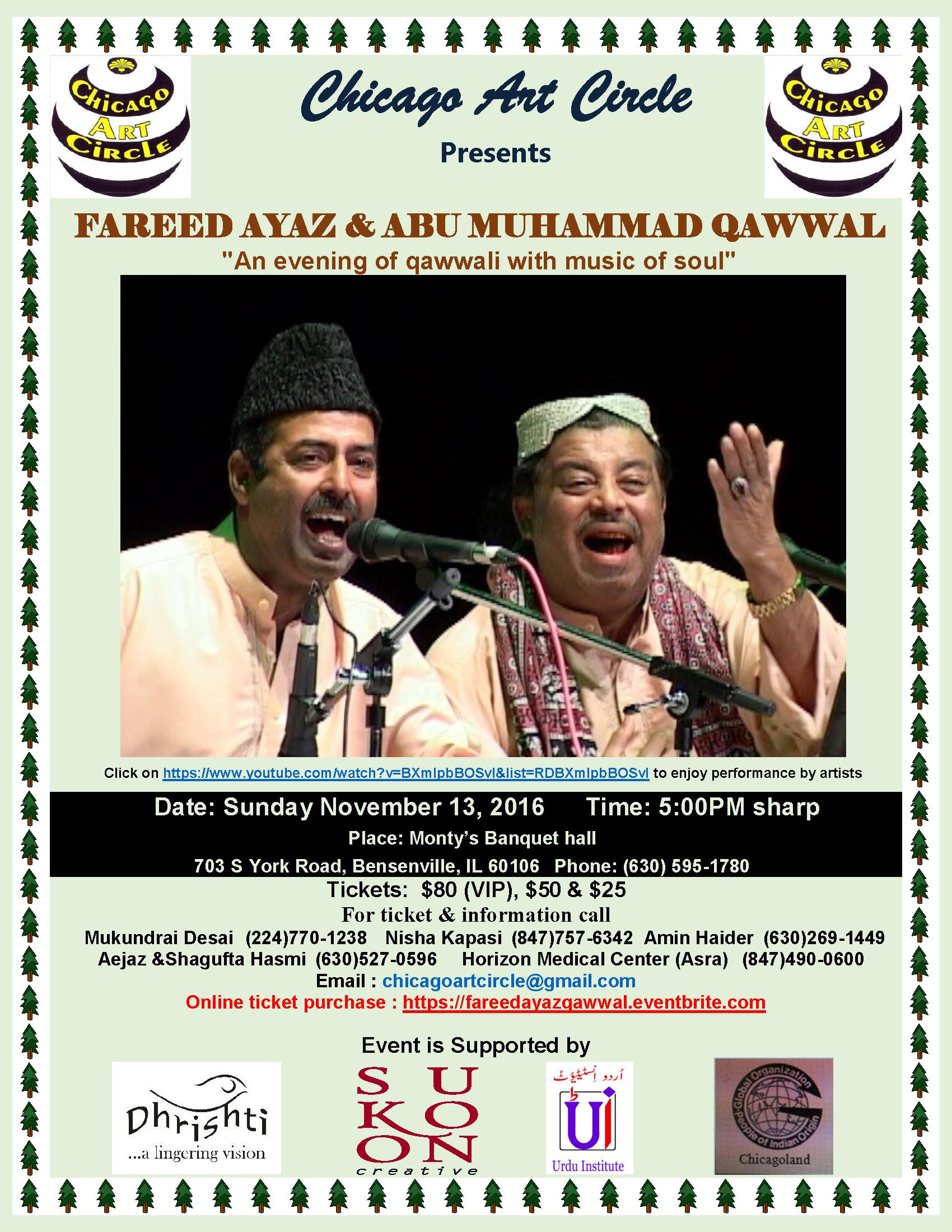 November 13 - Qawwali program flyer