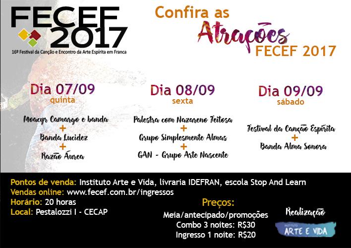 Apresentações 3 noites FECEF 2017