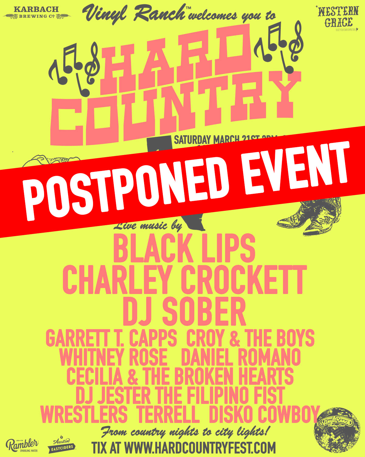 HARD COUNTRY FEST 2020 POSTPONED