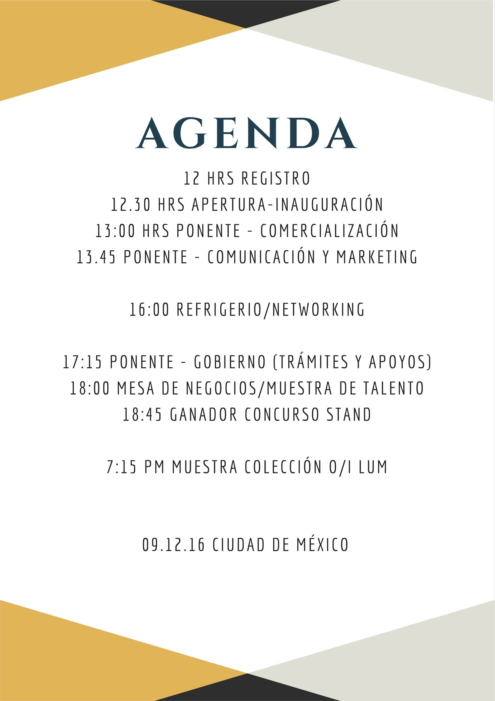 Programa del evento