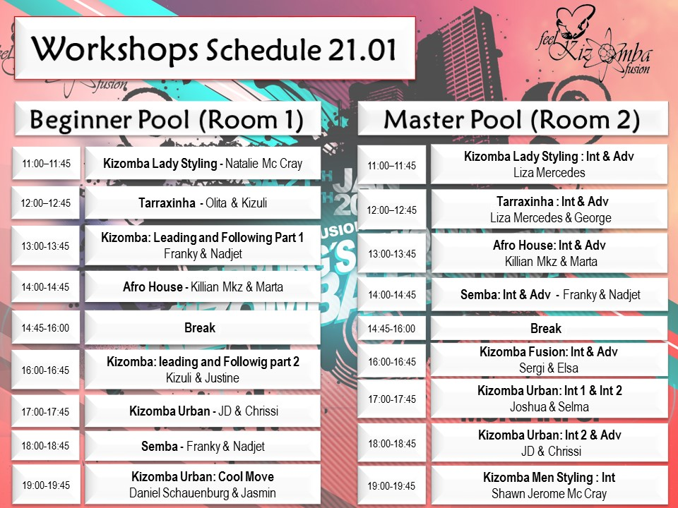 Kizomba Workshop Programm 1