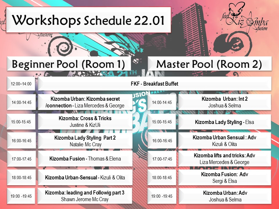 Kizomba Workshop Programm 2