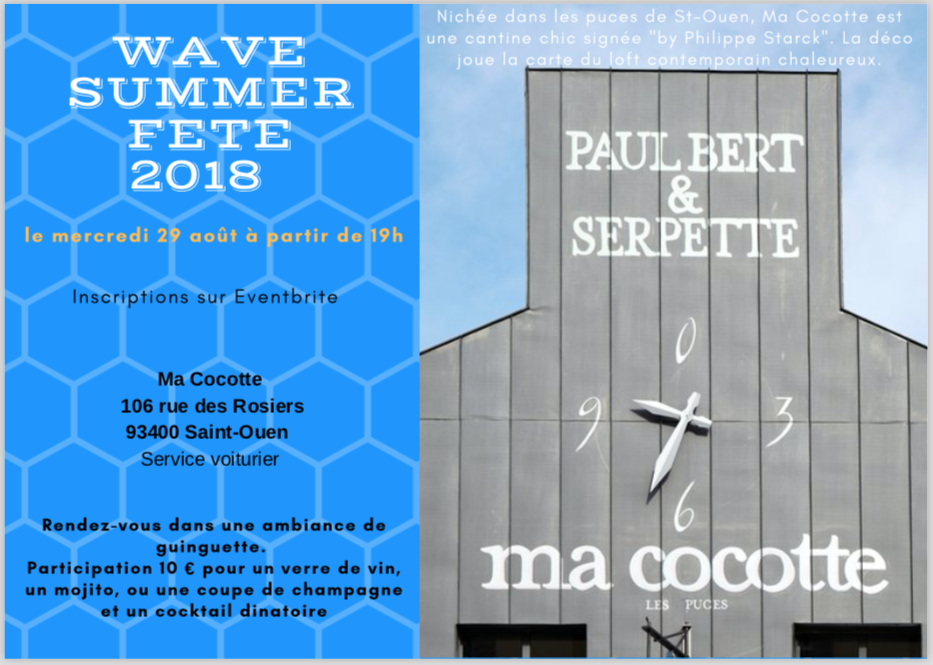 Invitation Summer Fête WAVE 2018