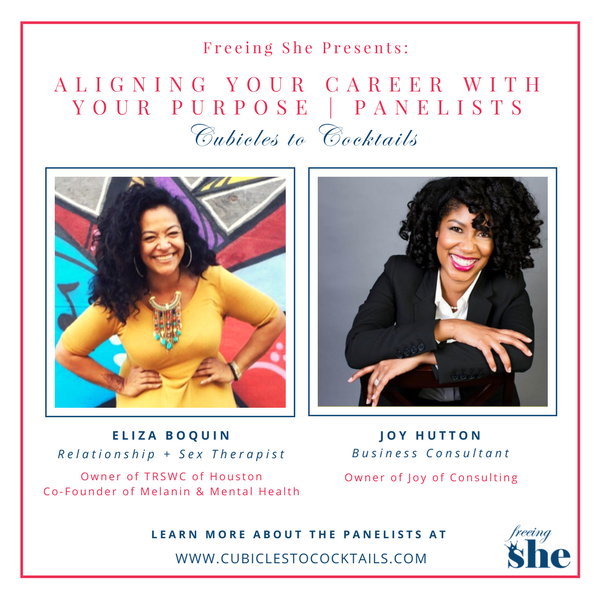 Cubicles to Cocktails Aligning Your Career with Your Purpose Panelist