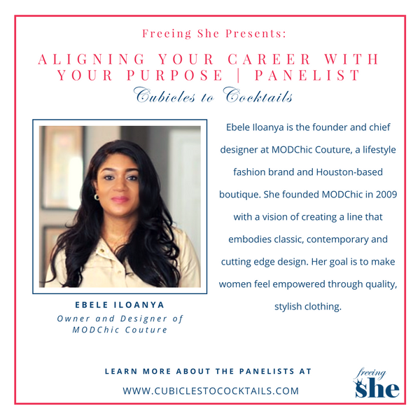 Cubicles to Cocktails Aligning Your Career with Your Purpose Panelists