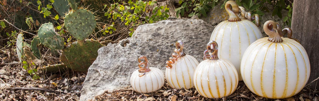 Wimberley Glassworks Glass Pumpkins