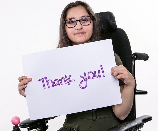 A-T Society Says Thank You