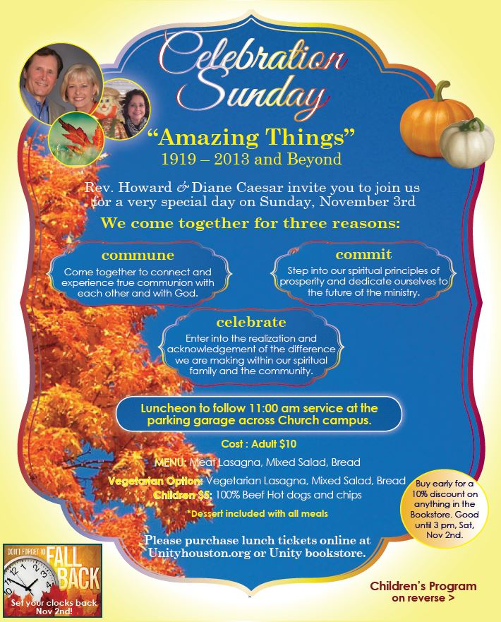 Celebration Sunday 2013