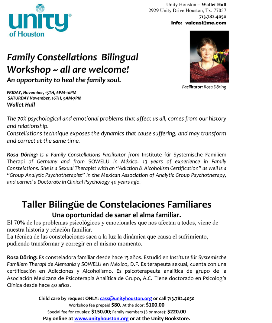Family Constellations Bilingual Workshop