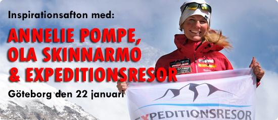 Lyssna på när Ola Skinnarmo och Annelie Pompe berättar om våra expeditioner