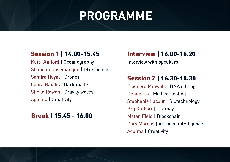 Programme of TEDxCERN