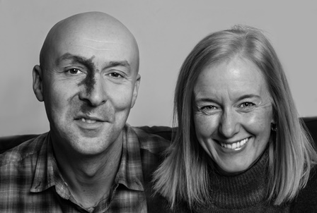 Chris Brookmyre and Marisa Haetzman
