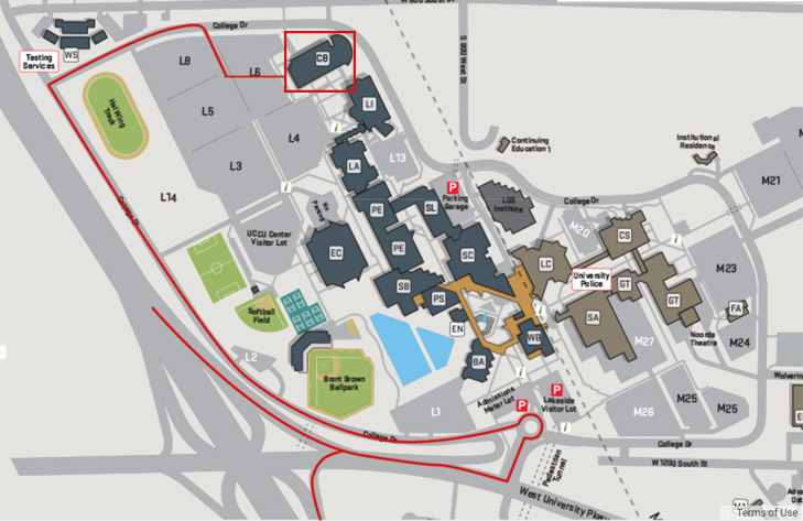 UVU Clarke Building Map