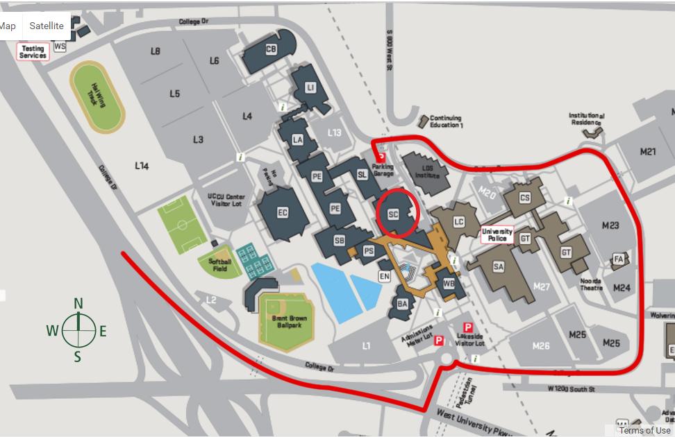 UVU Map - Student Center