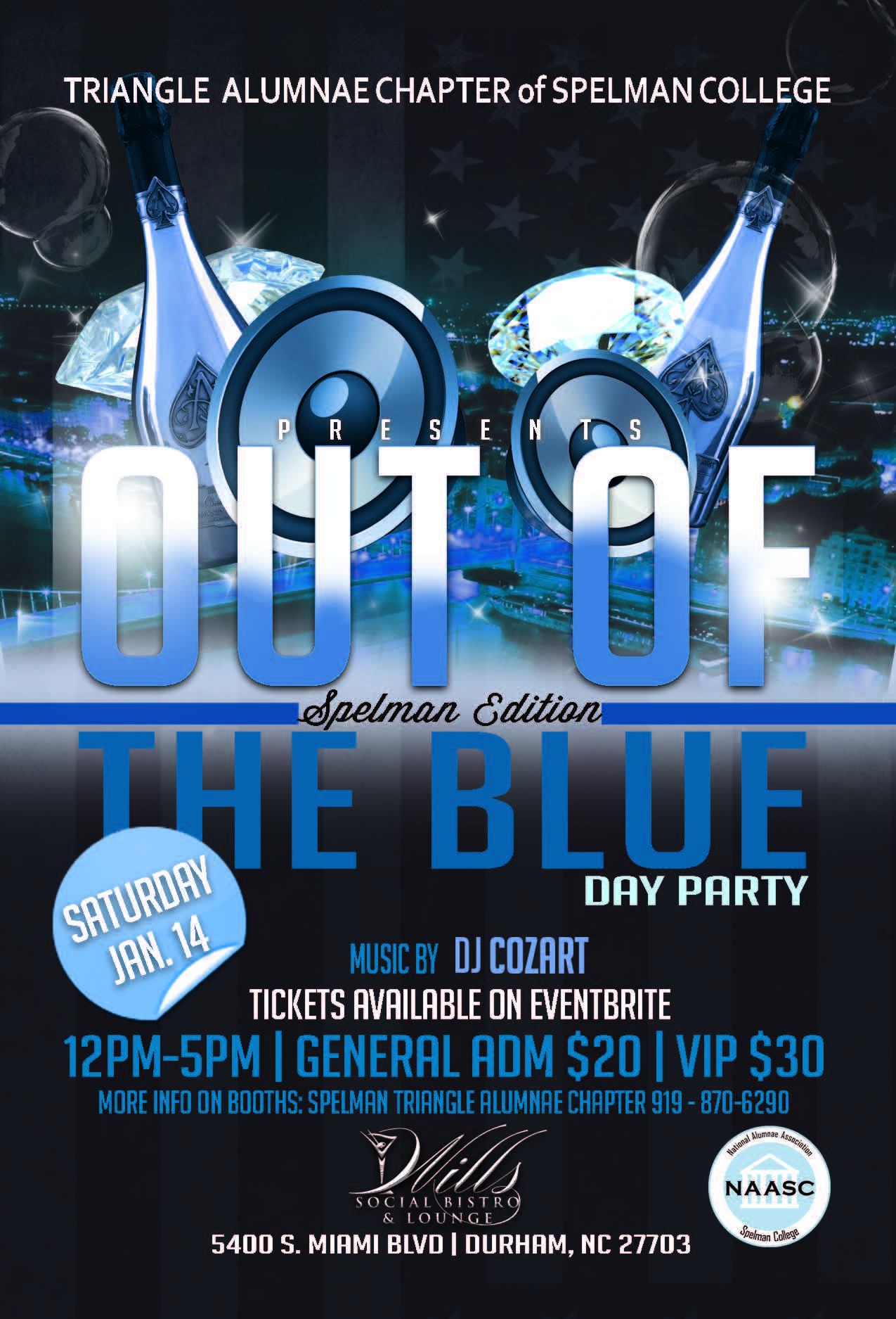 Out of the Blue Flyer, 12-5 pm