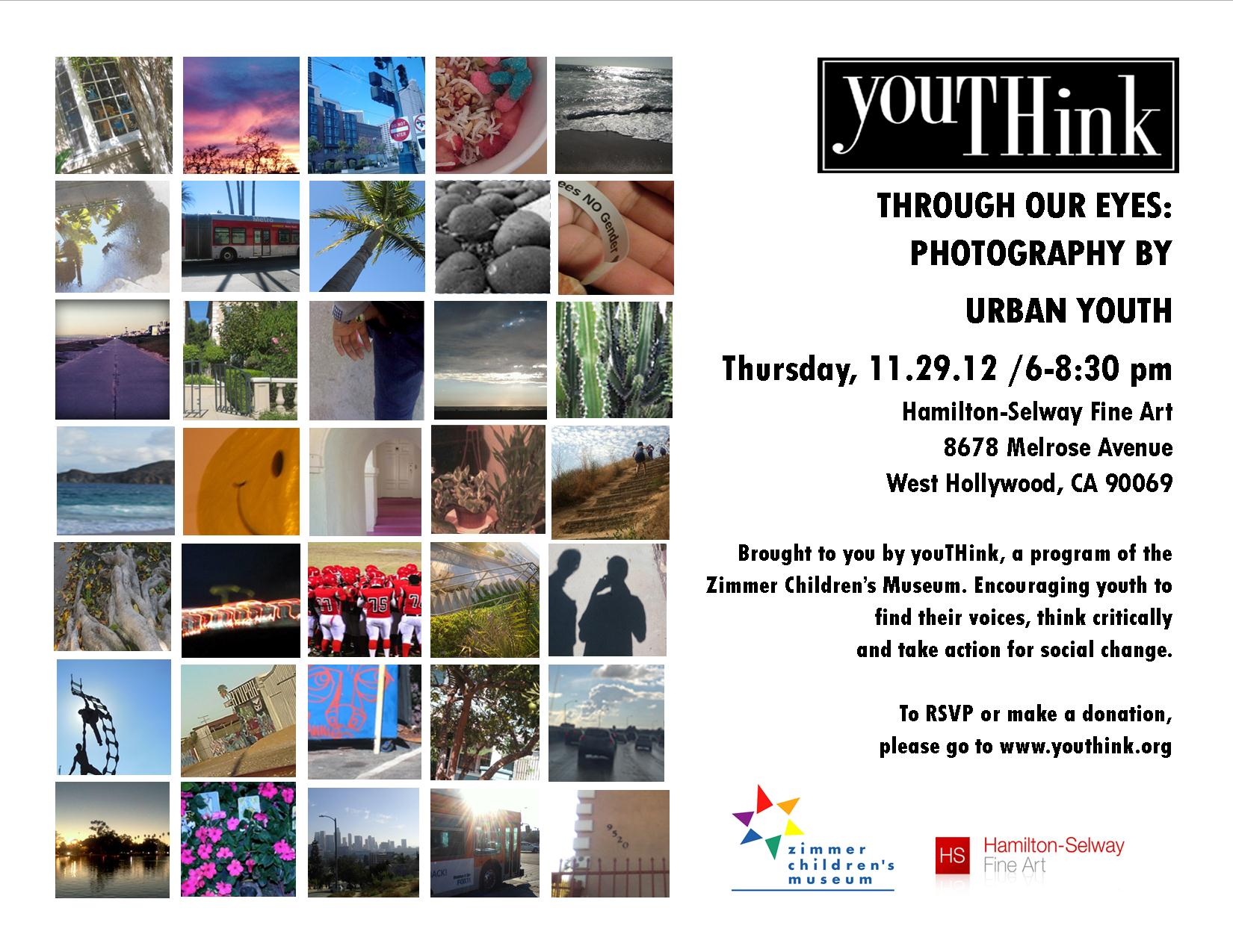 youthink Through Our Eyes 2012 invitation